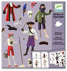 Djeco Stickers Les pirates