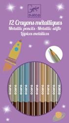 Djeco 8 metallic pencils