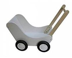 Van Dijk Toys  houten poppenmeubel Poppenwagen wit (flatpacked)