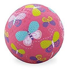 Crocodile Creek 13 cm Playball - Pink Butterflies