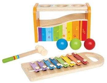 Hape Houten hamerbank xylofoon