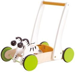 Hape houten loopwagen Zebra