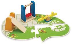Hape houten poppenhuis meubels Playground