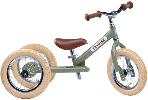 Trybike loopfiets 2-in-1 staal vintage groen