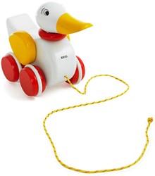 BRIO speelgoed Trekeend wit