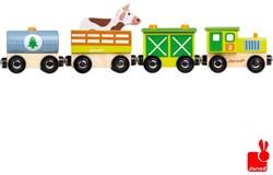 Janod  Story houten trein Boerderij