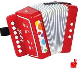 Janod  Confetti houten muziekinstrument Accordeon