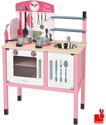 Janod  houten keukentje Keukentje roze inclusief 8 accessoires