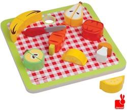 Janod  houten keuken accessoire Chunky groente & fruit magnetisch