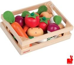 Janod  houten keuken accessoire Kistje 12 stuks groente