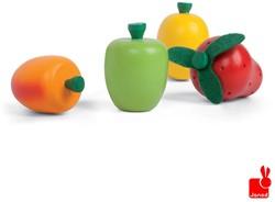 Janod  houten keuken accessoire Kistje met 12 stuks fruit