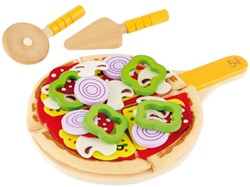 Hape houten keuken accessoires Pizza van hout