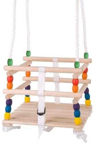 BigJigs houten babyschommel met kralen