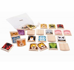 Plan Toys  houten kinderspel Animal Memory