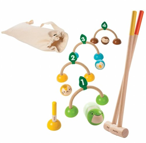 Plan Toys houten buitenspel croquet