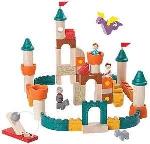 Plan Toys houten kasteel blokken