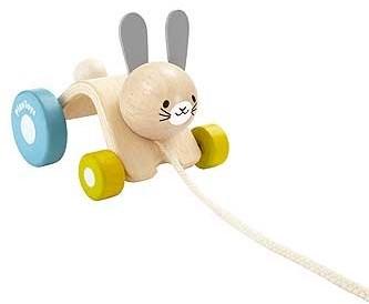 Plan Toys houten trekfiguur huppelend konijn