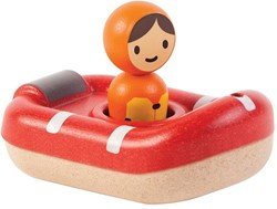 Plan Toys  houten badspeelgoed Coast guard boat