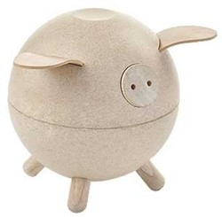 Plan Toys  kindermeubel spaarpot Piggy bank - White