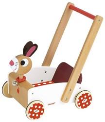 Janod houten loopwagen Crazy Rabbit