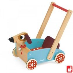 Janod houten loopwagen Crazy dog