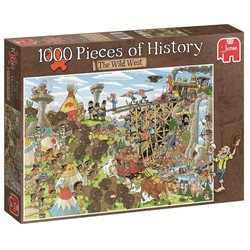 Jumbo  Pcs of History The Wild West - 1000 stukjes
