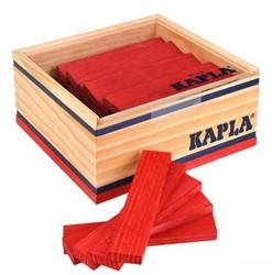 Kapla  houten bouwplankjes 40 rood