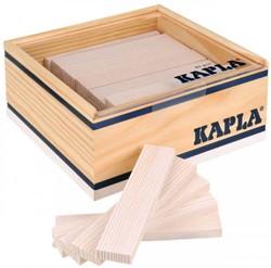 Kapla  houten bouwplankjes 40 wit in kistje