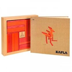 Kapla  houten bouwplankjes 40 Plankjes rood/oranje