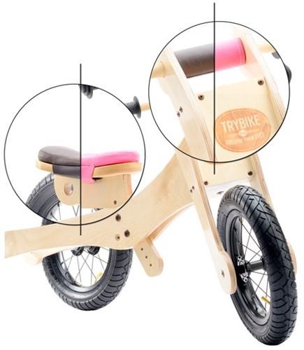Trybike loopfiets accessoire Zadelhoes en kinbeschermer roze