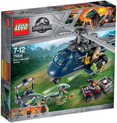 LEGO Jurassic Helikopterachtervolging van Blue 75928