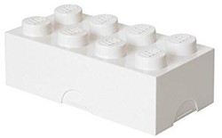 Lego  kinderservies Lunchbox - brick 8: wit