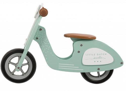 Little Dutch Little Dutch Houten scooter   mint