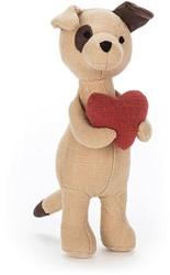 Jellycat knuffel Mini Boodschapper Puppy -17cm