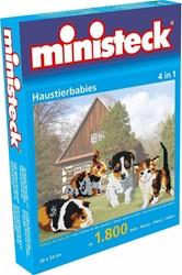 Ministeck Huisdierenbaby's 4-in-1 - 1800 stukjes