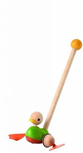 Plan Toys houten duwstok eend