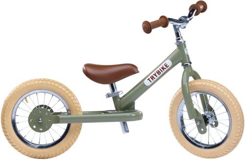 Trybike loopfiets staal vintage groen - tweewieler
