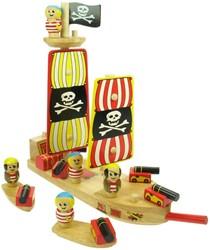 BigJigs  speelvoertuig piratenboot