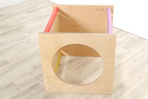 Sawdust and Rainbows Mono Platform Cube