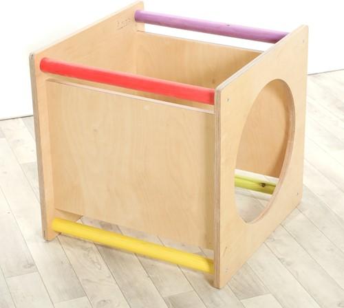 Sawdust and Rainbows Rainbow Platform Cube