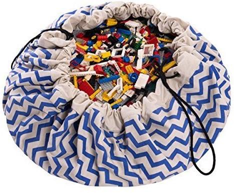 Play&Go  speelgoed opbergzak Zigzag blauw