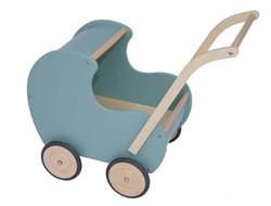 Van Dijk Toys houten poppenwagen Vintage Blauw