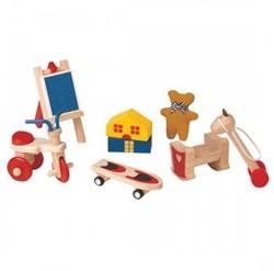 Plan Toys  houten poppenhuis accessoire Fun toys set
