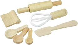 Plan Toys  houten keuken accessoires Baking Utensils