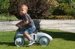 Retro Roller loopauto zilver Jean