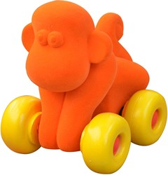 Rubbabu Aniwheel Monkey (Orange)