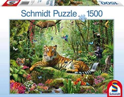 Schmidt  legpuzzel Djungle Tigers,  - 1500 stukjes