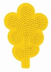 Ses  strijkkralen bord bloem