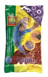 Ses  strijkkralen bruin 1000 stuks
