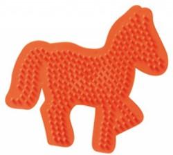 Ses  strijkkralen bord paard